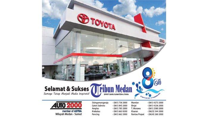 Ucapan Selamat HUT ke-8 Tribun Medan dari Auto2000 Wilayah Medan