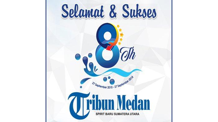 Ucapan Selamat HUT ke-8 Tribun Medan dari Keluarga Besar Bank Sumut