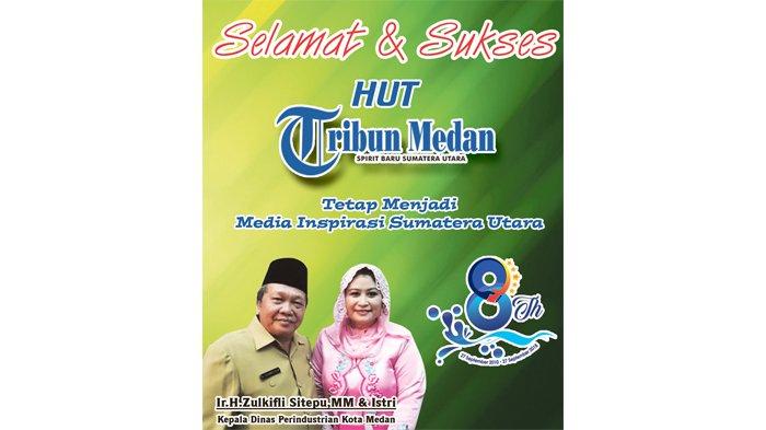 Ucapan Selamat HUT ke-8 Tribun Medan dari Kepala Dinas Perindustrian Kota Medan