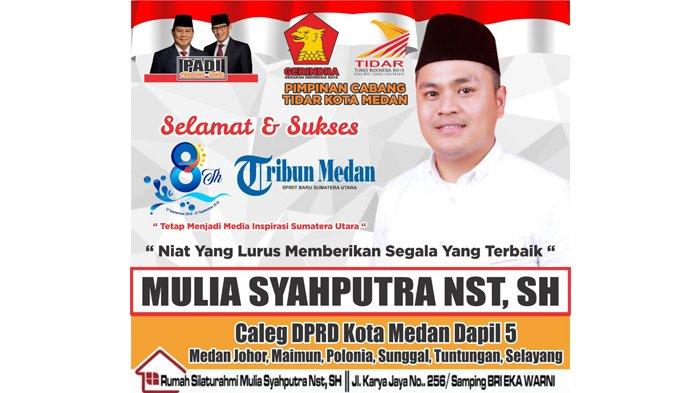 Ucapan Selamat HUT ke-8 Tribun Medan dari Mulia Syahputra Nasution