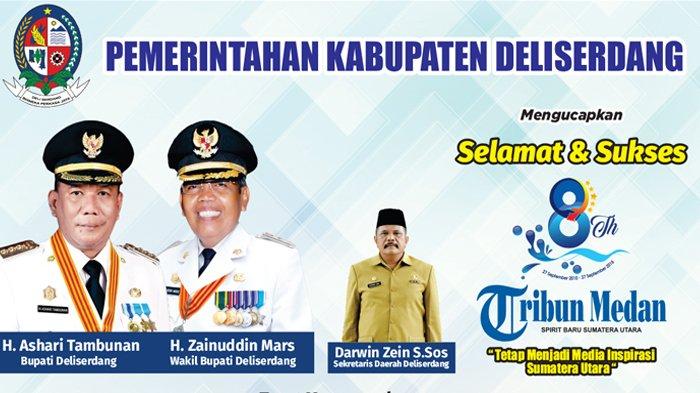 Ucapan Selamat HUT ke-8 Tribun Medan dari Pemerintah Kabupaten Deliserdang