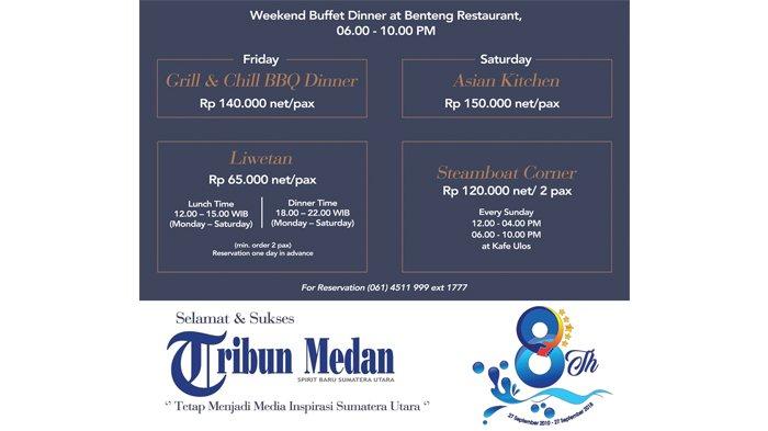 Ucapan Selamat HUT ke-8 Tribun Medan dari Santika Premiere Dyandra Hotel & Convention Medan