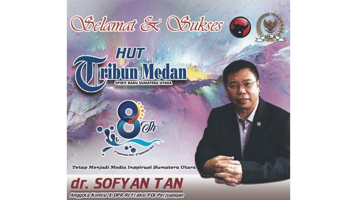 Ucapan Selamat HUT ke-8 Tribun Medan dari Sofyan Tan