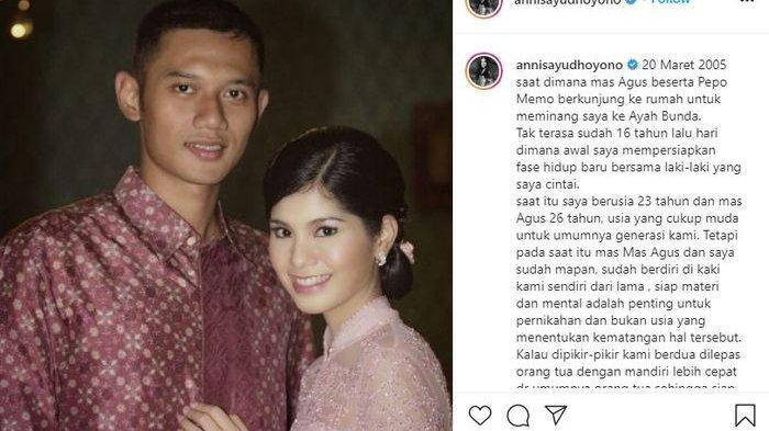 Unggahan Annisa Pohan di instagram