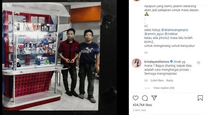 Unggahan Atta Halilintar yang menceritakan kisahnya saat menjadi karyawan di toko handphone