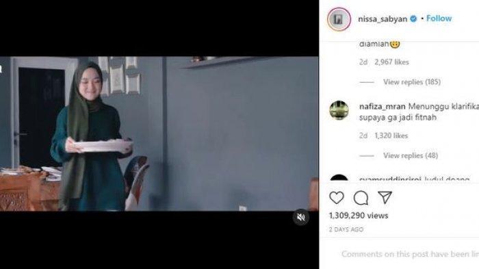 Unggahan Instagram Nissa Sabyan