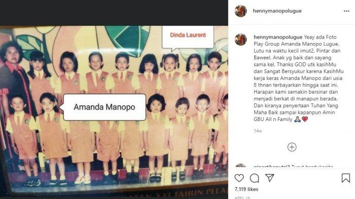 Unggahan terakhir Ibunda Amanda Manopo