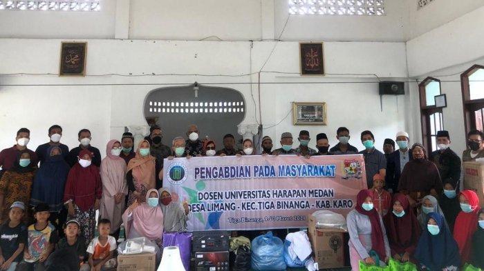 Universitas Harapan Medan  Lakukan Pengabdian di Desa Limang