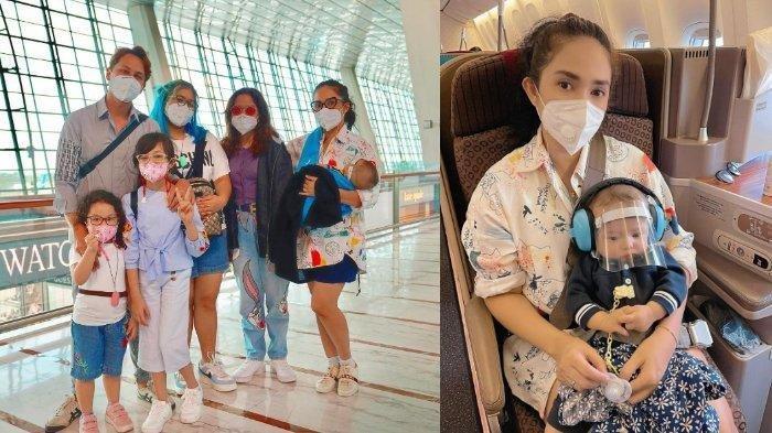 Ussy Sulistiawaty dan Andhika Pratama ajak kelima anaknya berlibur ke Bali.