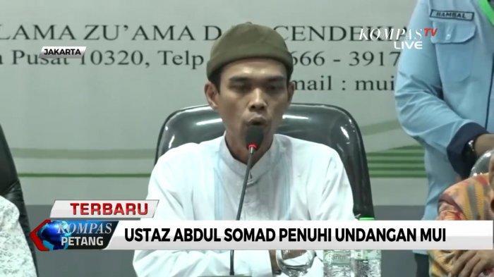 5 Poin Klarifikasi Ustadz Abdul Somad Somad (UAS) di MUI