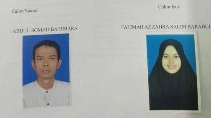 Ustaz Abdul Somad dan calon istrinya