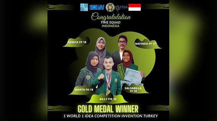 Kirim 5 Wakilnya di Kompetisi 1Idea 1World, USU Raih 2 Medali Emas