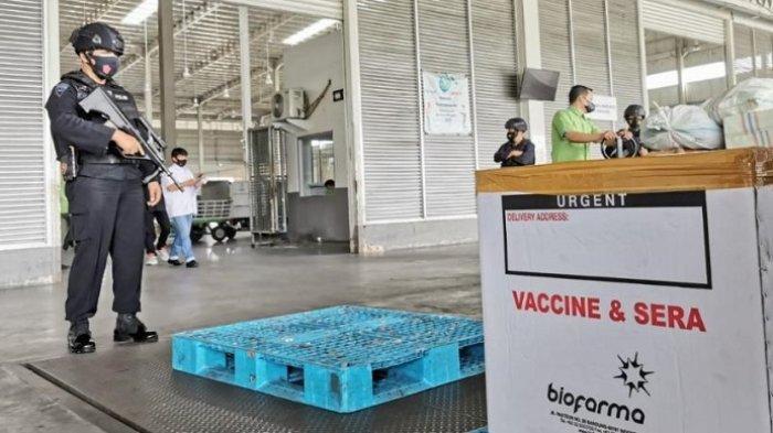 61.400 Dosis Vaksin Sinovac Tiba di Bandara Kualanamu, Langsung Diangkut ke Gudang Farmasi