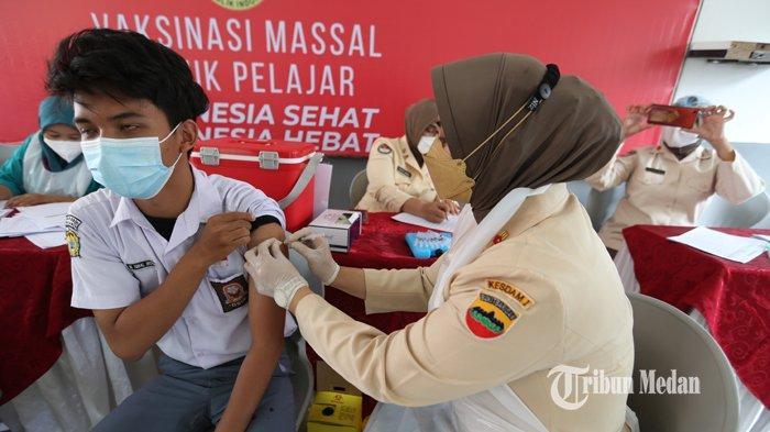 Keterbatasan Vaksin, tak Ada Vaksinasi untuk Pelajar di Deliserdang