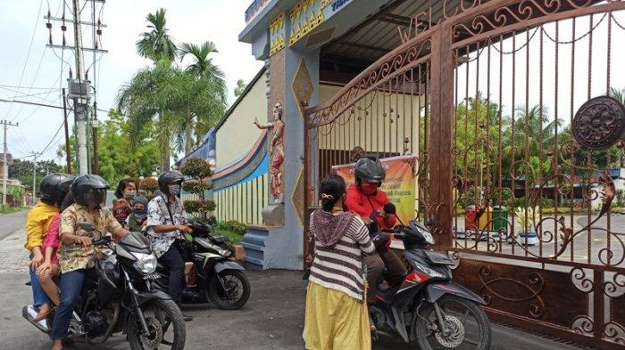 Tutup Selama Pandemi, Pengurus Graha Maria Annai Velangkanni Buka Layanan Melalui Gerbang Utama