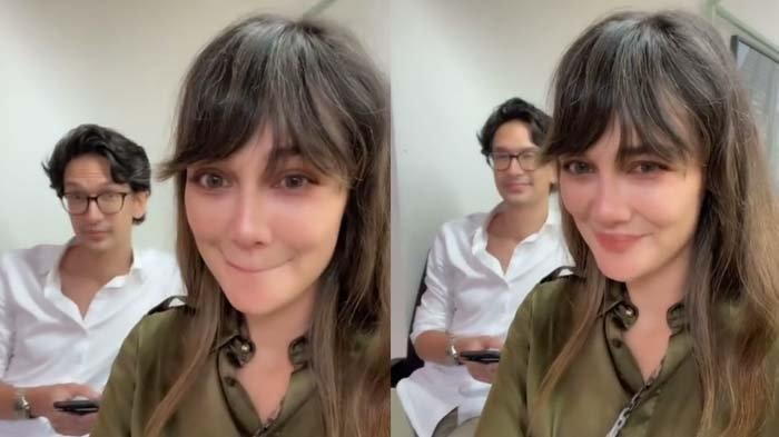 DETIK-detik Dimas Beck Mencium Luna Maya hingga Tersipu-sipu, Videonya Sontak Viral di Medsos