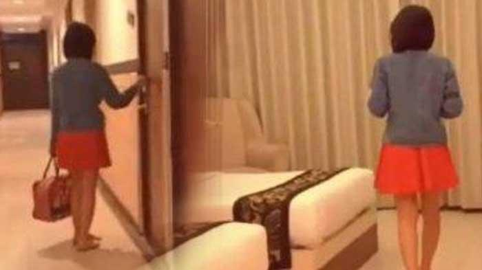Sampai Kamar Hotel Langsung Telanjang, Video Syur Wanita Rambu Sebahu, Sengaja Direkam dari Lobi