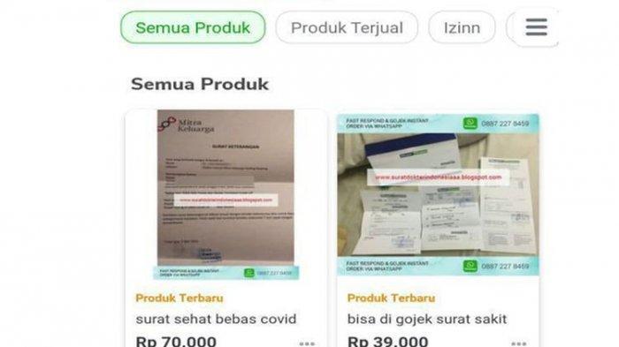 VIRAL Surat Sehat Bebas Covid-19 Dijual Online Rp 70 Ribu, RS Mitra Keluarga Niat Lapor Polisi