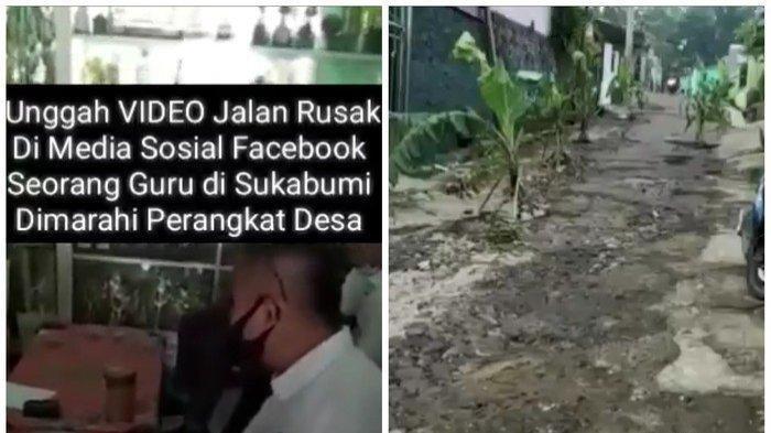 Aksi Pak Eko, Guru Posting Jalan Rusak, Malah Dimaki Perangkat Desa, Ketakutan: Jangan Nantang Kamu!