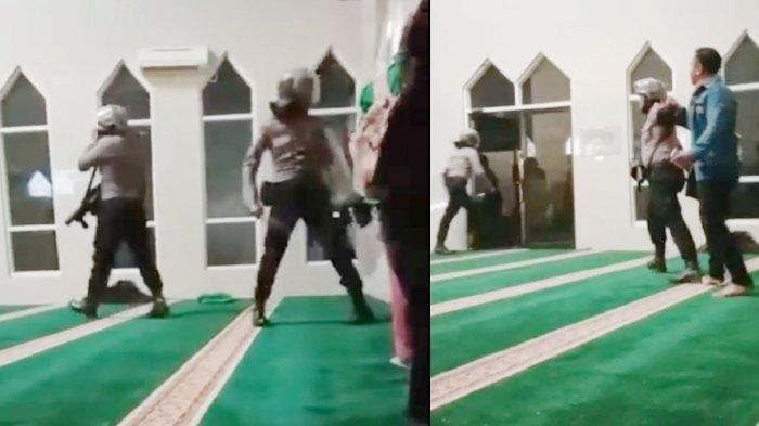 VIRAL VIDEO Oknum Polisi Tangkap Mahasiswa di Masjid, Mahasiswa Dipukul Beredar di Whatsapp