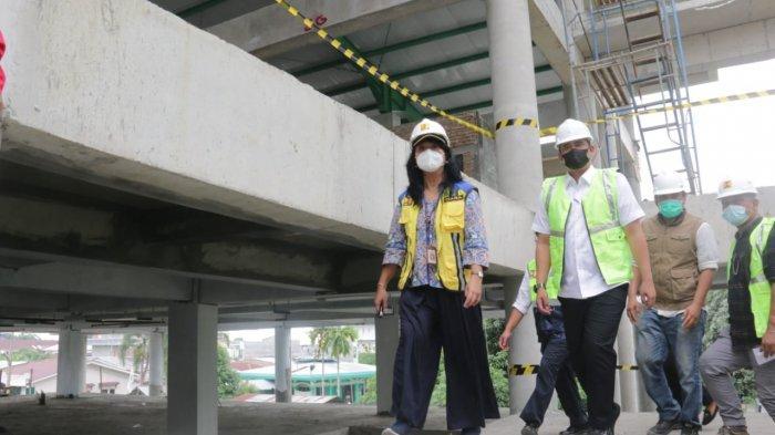 Bobby Nasution Bersama Dirjen Cipta Karya Kementerian PUPR Tinjau Pembangunan Pasar Aksara Baru