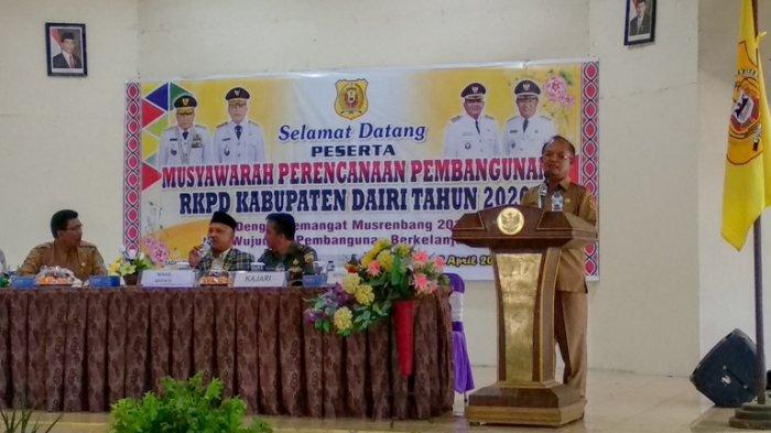 Musrenbang RKPD 2020, Wabup Dairi Irwansyah Pasi sekaligus Pamit pada Pimpinan OPD