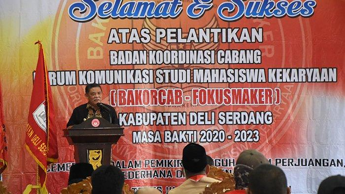 Wabup HM Ali Yusuf Siregar Hadiri Pelantikan Pengurus Bakorcab Fokusmaker Deli Serdang