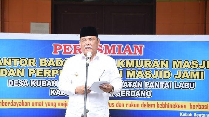 Wabup Deli Serdang Resmikan Kantor BKM dan Perpustakaan Masjid Jami Desa Kubah Sentang