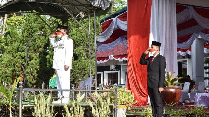 Wakil Bupati Deliserdang Yusuf Siregar Sebagai Irup Upacara yang Berlangsung Lancar