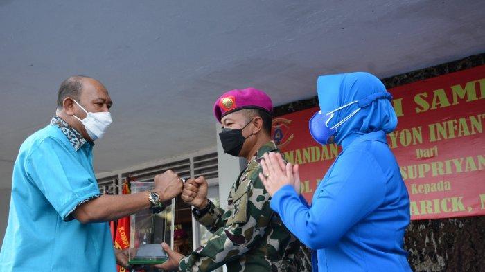 Wakil Bupati Langkat Syah Afandin Hadir di Acara Pisah Sambut Komandan Batalyon Infanteri 8 Marinir