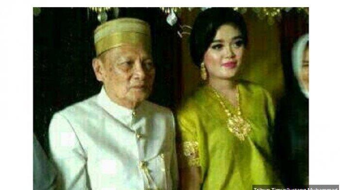 Mantan Wakil Wali Kota Parepare, Sulsel, Tajuddin Kammisi (70) baru saja menikahi gadis bangsawan Bone, Andi Fitri ( 25).