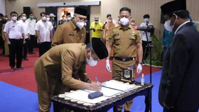 WALI Kota Binjai Amir Hamzah Melantik Sekda dan Kepala Bappeda, Tekankan Fokus dalam Bekerja