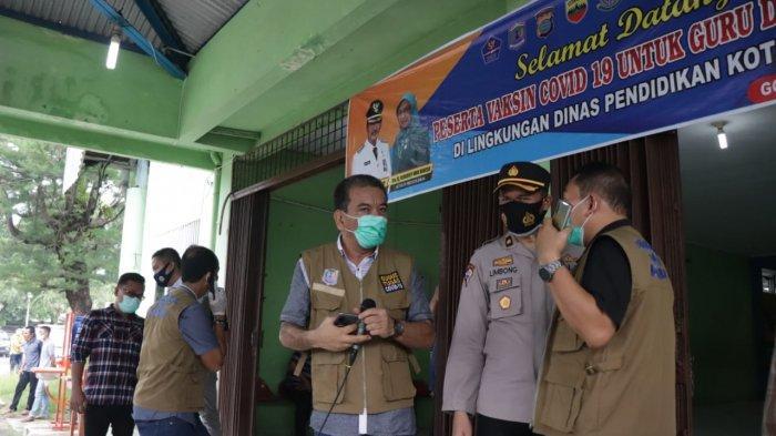 Wali Kota Binjai Tinjau Vaksinasi, Targetkan Vaksin 1.000 Tenaga Pendidik