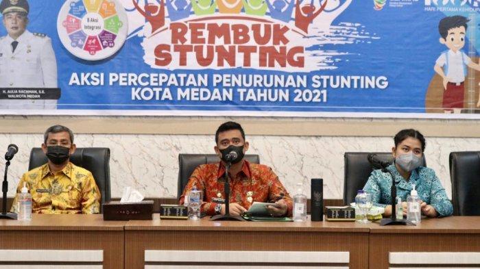Buka Acara Rembuk Stunting 2021, Bobby Nasution Bobby Nasution Ingatkan OPD Serius Bekerja