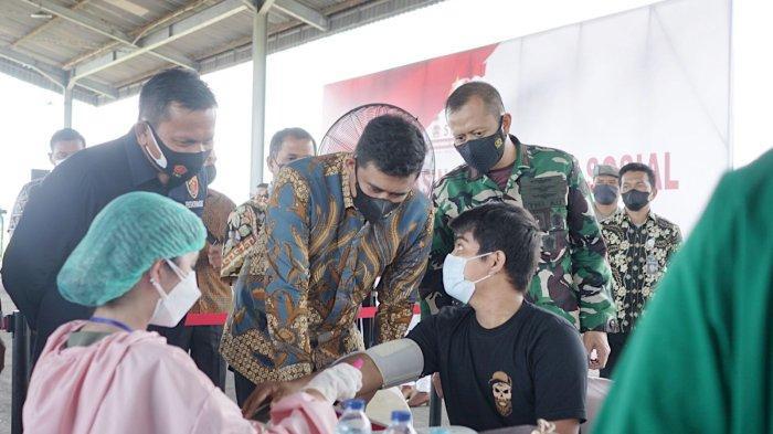 Hadir Kegiatan Serbuan Vaksinasi Covid-19, Bobby Nasution Ucap Terimakasih kepada Alumni AKABRI 1996