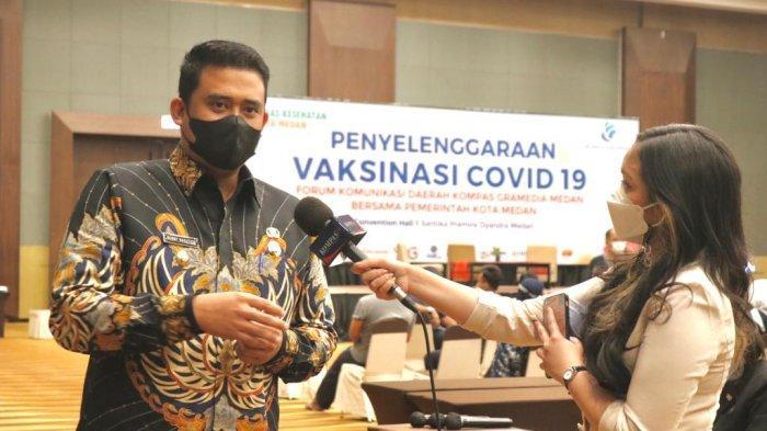 Tinjau Vaksinasi FKD Kompas Gramedia, Bobby Nasution: 10 Persen dari Target Penduduk Medan Tercapai