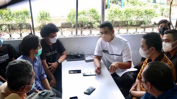 Wali Kota Bobby Bersilaturahmi ke Warkop Jurnalis