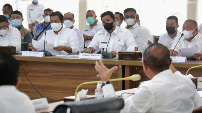Gubsu Edy Setuju Kepala Daerah Bangkitkan Ekonomi, Bobby Nasution: KCW Ketat Terapkan Prokes