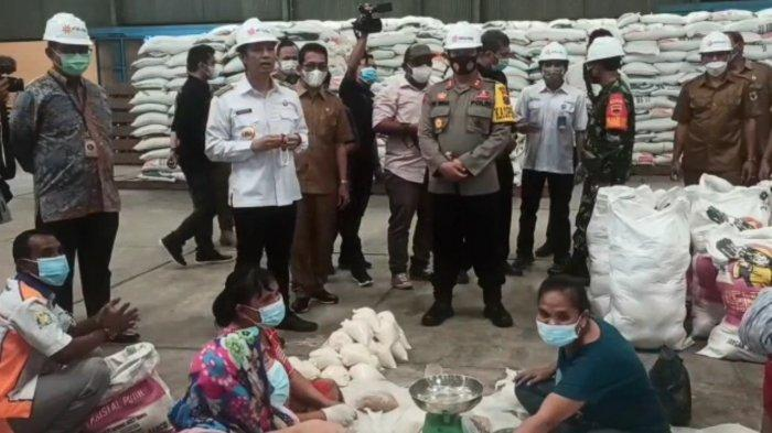 Wali Kota Siantar Sidak Pasar dan Bulog, Cek Ketersediaan Bahan Pokok Jelang Idul Fitri 1442H
