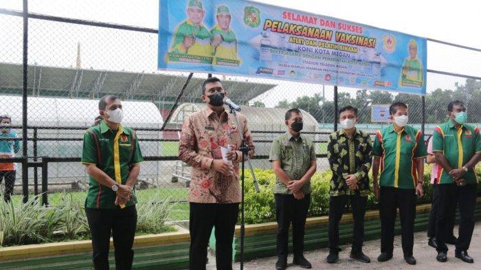 Vaksinasi Massal Covid-19 di Stadion Teladan, Para Atlet Antusias Ikut, Bobby Nasution Bilang Ini