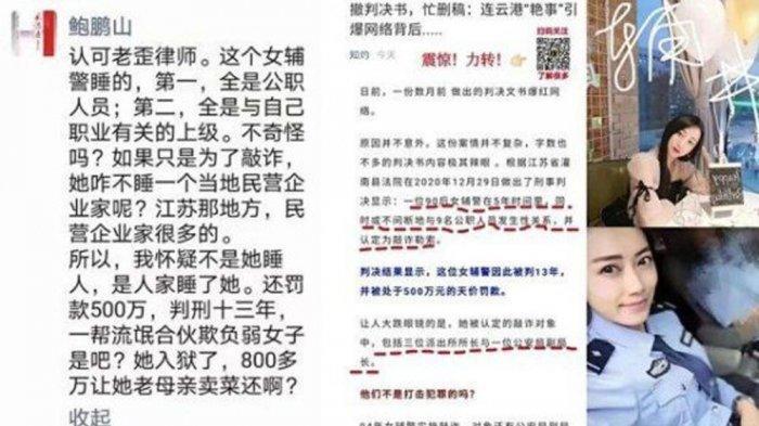 Layar tangkap vonis <a href='https://manado.tribunnews.com/tag/xu-yan' title='XuYan'>XuYan</a> <a href='https://manado.tribunnews.com/tag/viral' title='viral'>viral</a> di medsos Weibo