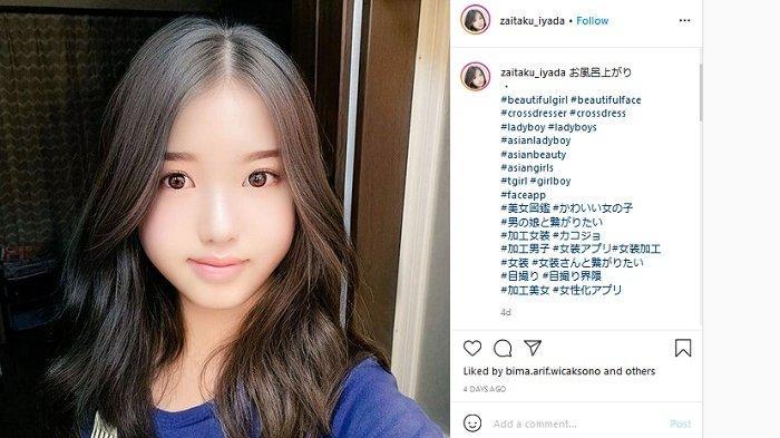 Jangan Sampai Tertipu, Sosok Gadis Cantik Menggoda Ini Ternyata Pria 53 Tahun, Selebgram asal Jepang