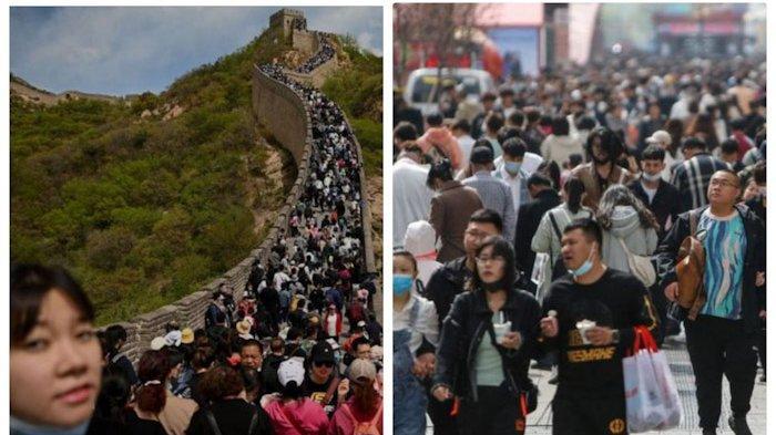 India Terpuruk Dihantam Corona, China Umumkan Kemenangan, Ekonomi Tumbuh 18,3 Persen, Warga Liburan