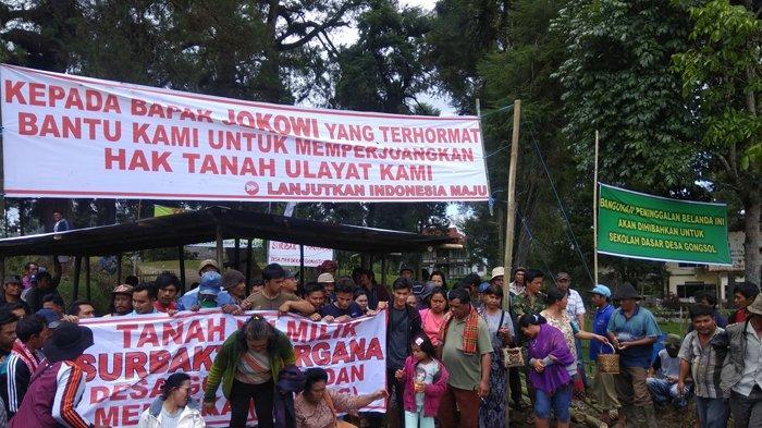 Warga Kecamatan Merdeka dan Desa Gongsol Minta Tanah Ulayat Mereka Dikembalikan