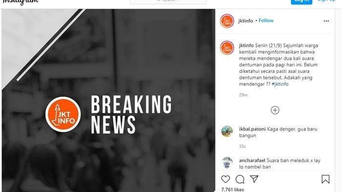 Terungkap Sumber Dentuman Keras di Sejumlah Wilayah DKI Jakarta, TNI AU Jelaskan Sejumlah Fakta Baru