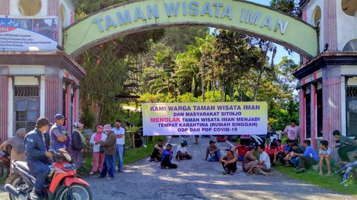 Warga Tutup Akses Masuk Kompleks Taman Wisata Iman, Tolak Jadi Rumah Singgah ODP Covid-19