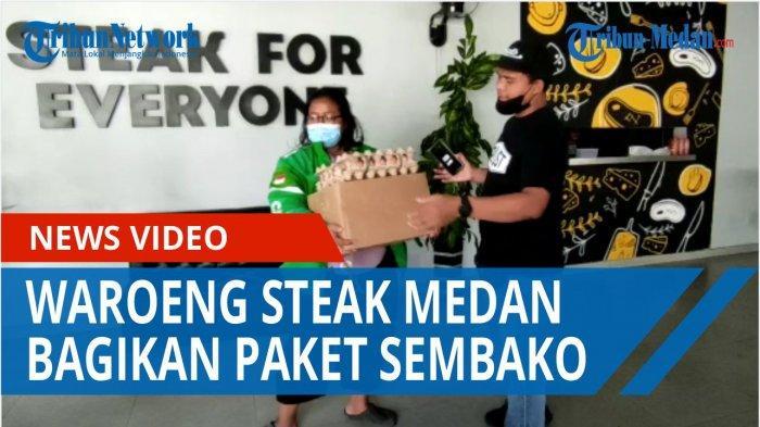 Tanda Peduli, Waroeng Steak Amir Hamzah Bagikan Sembako untuk Warga Sekitar