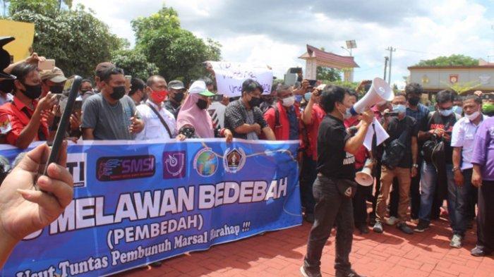 Jurnalis Siantar-Simalungun Tuntut Transparansi Kasus Penembakan Wartawan Mara Salem Harahap