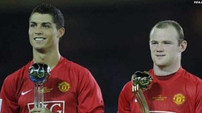 Wayne Rooney bersama Cristiano Ronaldo saat berseragam Manchester United