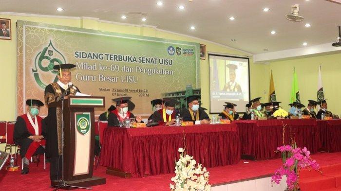 UISU  Lantik 836 Wisudawan, Dirjen Pendidikan Tinggi Sampaikan Orasi Ilmiah